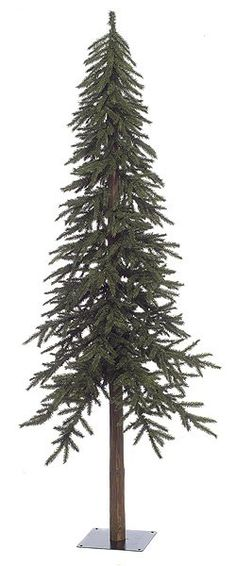 Artificial Christmas Trees, Artificial Flowers, Artificial Plants - Tall Green Alpine Trees with or without lights Alpine Christmas Tree, Alpine Tree, Pencil Christmas Tree, Primitive Christmas, Holiday Tree, Country Christmas, Winter Christmas, Office Christmas, Holiday Ideas
