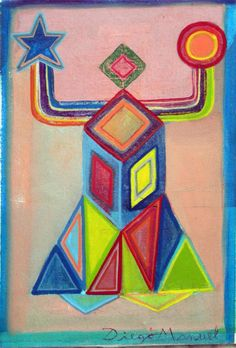 """Diablito de carnaval 6 "" , acrylic on canvas, 28 x 18 cm. 2015"