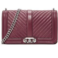 Rebecca Minkoff Chevron Quilted Love Cross Body Bag (17.130 RUB) ❤ liked on Polyvore featuring bags, handbags, shoulder bags, acai, quilted shoulder bags, rebecca minkoff crossbody, leather crossbody handbags, leather crossbody and purple cross body purse