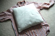 Shirt Pillow Tutorial