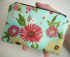 Formosa Blue Padded Eco Friendly Zipper Pouch  Little Coin Purse by JPATPURSES, $8.00