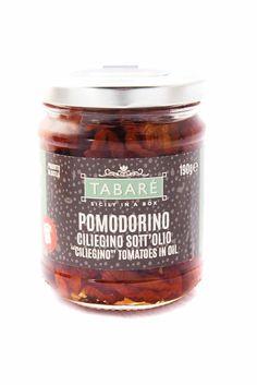 Sundried Tomato in EVO. For original and delicious bruschettas. Try it also as accompaniment for second courses. #sicily #pomodorino #ciliegino #tomato