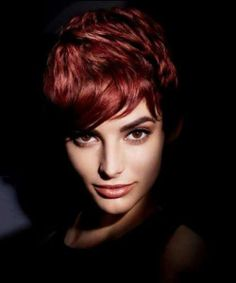 A hip red Pixie  - Beauty Ideaz
