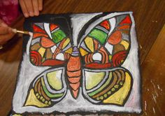 Art in the middle art education, art и middle school art projects. Middle School Art Projects, Classroom Art Projects, Art Classroom, Art School, Animal Art Projects, Roofing Felt, Expressive Art, Art Lessons Elementary, Butterfly Art