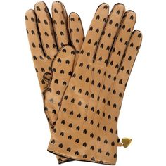 Moschino Cheap & Chic All Over Heart Gloves