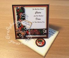 Wedding Twisted Easel Card to match invite - craftybabscreativecrafts.co.uk