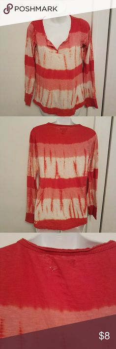 Lucky Brand Long Sleeve T-Shirt Lucky Brand Tie-Dyed Long Sleeve Shirt  Small holes near the inside label (pictured) otherwise in great condition  100% cotton  Size medium Lucky Brand Tops Tees - Long Sleeve