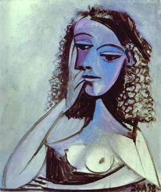 Pablo Picasso: Portrait of Nusch Éluard, 1938.