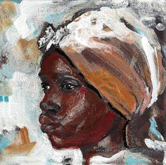 Original African Woman Painting African Tribal Art