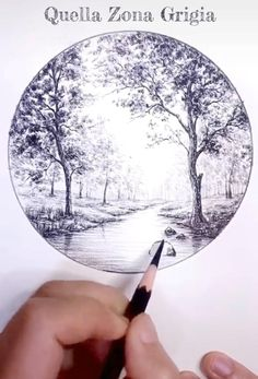 Art Drawings Beautiful, Art Drawings For Kids, Pencil Art Drawings, Art Drawings Sketches, Circle Drawing, Nature Drawing, Color Pencil Art, Pen Art, Drawing Techniques