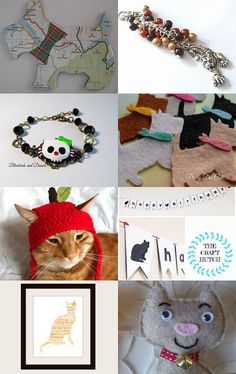 It's all about cats and dogs x  by Karen Matthews on Etsy--Pinned with TreasuryPin.com