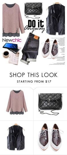 """""""Newchic/Lovenewchic"""" by helenevlacho ❤ liked on Polyvore featuring Jeffrey Campbell, women's clothing, women, female, woman, misses, juniors and newchic"""