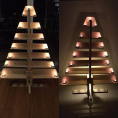 DIY Pallet Tree With Tea Lights