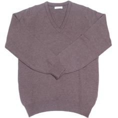 Lambswool V-Neck - Leather | Howard Yount
