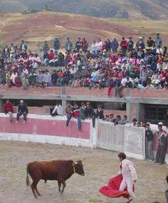 Large number of onlookers watching the #matador vs the #bull at the #BullFight in #Socos, #Peru! Who do you think won? #SouthAmerica #TreasuresOfTraveling #VintagePhoto2004 #Torero #Huamanga #Ayacucho #LatinAmerica #TravelBlog #Travel #WorldTravel #WorldT