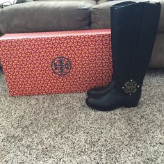 New! Tory Burch Riding Boots! Brand new Black Tory Burch riding boots. Genuine leather. Tory Burch Shoes Winter & Rain Boots