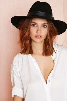 loving oversized black hats for fall