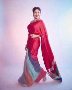 Trendy Sarees, Fancy Sarees, Party Wear Sarees, Bollywood Sarees Online, Bollywood Fashion, Bollywood Style, Madhuri Dixit Saree, Set Saree, Designer Silk Sarees