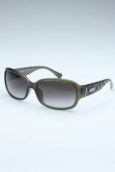 Coach Sunglasses In Olive. This is a NEED.