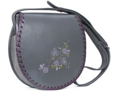 LEATHER SHOULDER BAG WOMEN JOLA FLO via Vintage Leather Bags. Click on the image to see more!