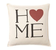 Sentiment Ivory Pillow Cover   Pottery Barn