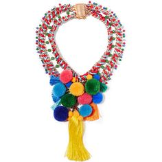 Rosantica Rosita gold-tone, quartz and pompom necklace (£340) ❤ liked on Polyvore featuring jewelry, necklaces, nakit, red, quartz necklace, curb chain necklace, magnetic bead necklace, multicolor necklace and multi colored bead necklace