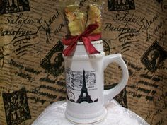 French Ceramic Stein Coffee Cup Gift Set by Piaraciccone on Etsy, $22.95
