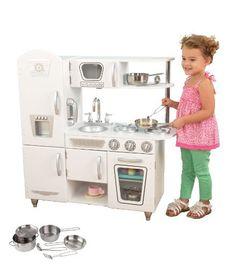 KidKraft White Vintage Kitchen with Steel Pans & Accessory Set, http://www.amazon.com/dp/B00FN045JE/ref=cm_sw_r_pi_awdm_MfR0sb0AD9BPT