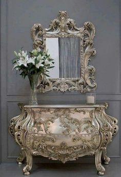 Rococo Furniture, Home Decor Furniture, Unique Furniture, Luxury Furniture, Furniture Makeover, Vintage Furniture, Painted Furniture, Furniture Design, Kitchen Furniture
