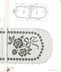 Lace napkins - Marianna Lara - Álbuns da web do Picasa Filet Crochet Charts, Crochet Diagram, Crochet Motif, Crochet Doilies, Crochet Lace, Chrochet, Crochet Table Runner, Crochet Tablecloth, Thread Crochet