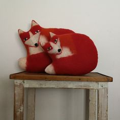 The fox community Christmas Stockings, Fox, Cushions, Community, Etsy, Holiday Decor, Home Decor, Cuddling, Handmade