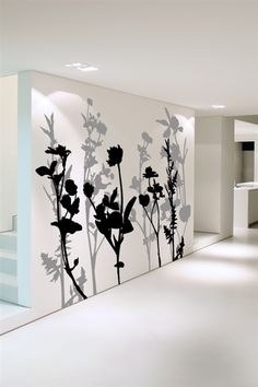 """Floral Tree 2"" Wall Decal by WALLTAT.com covers an 8ft x 10ft wall area!  Choose any of our 34 vinyl colors to create your own 2-color masterpiece."