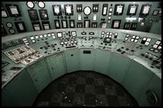 Control panel in control room inside abandoned powerplant. Futuristic Design, Dashboards, Art Direction, Cyberpunk, Belgium, Abandoned, City Photo, Sci Fi, Digital
