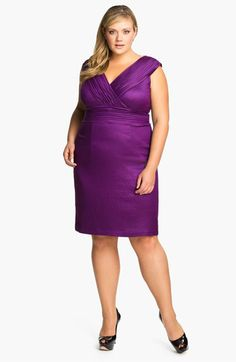 Adrianna Papell Shimmer Surplice Sheath Dress (Plus) | Nordstrom