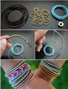 Bohemian vintage style jewelry tutorial handwork DIY