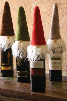 Santa/Gnome Wine Toppers