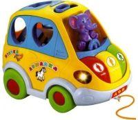 """Музыкальная игрушка сортер каталка """"Автошка"""" (звук, свет, движение, 22 см)"""
