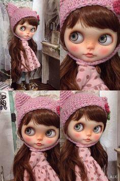 Custom Blythe Dolls: cute pinky dots Blythe - A Rinkya Blog