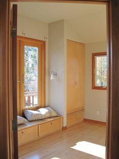 Wood for coat closet door---houzz Asian Bedroom Design Ideas, Pictures, Remodel and Decor Bedroom With Bath, Home Decor Bedroom, Bedroom Furniture, Bedroom Small, Bedroom Ideas, Master Bedroom, Exotic Bedrooms, Asian Bedroom, Small Bedroom Designs