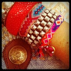 Dannijo jewelry...i love arm candy layered like this!