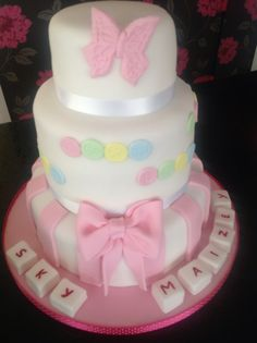 A lovely 3 Tier Christening Cake