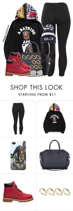 """""""I Just Wanna - Elijah Blake"""" by dope-madness ❤ liked on Polyvore featuring A BATHING APE, Givenchy, Timberland and ASOS"""
