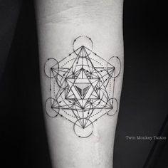 "4d0e8a3d7 ✖️AdithSetya✖ on Instagram: ""METATRON!! #twinmonkeytattoo #tattoo #cube  #lineart #magicinkmagz #ink #intenze #vscocam #vsco #vscocam #blackandwhite  ..."