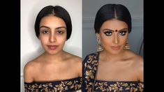 Indian | Bollywood | South Asian Bridal Makeup From Start To Finish @Blu... Indian Makeup Looks, Asian Bridal Makeup, Indian Bollywood, Eye Makeup, Wedding Photos, Make Up, Hair, Tutorials, Business