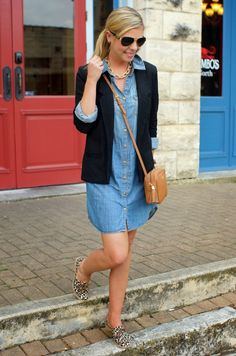Leopard Oxfords - Spring Outfit | Because Shanna Said So