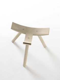 Jean Louis Iratzoki's Hiruki #stool in solid #oak