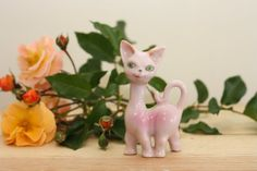 Sheila the 60s Pink Lady Cat by violetclair on Etsy, $20.00