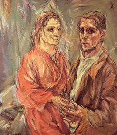 "Double portrait - Oskar Kokoschka and Alma Mahler. Read the crazy, sexy story of the Alma Mahler Doll created by Oskar Kokoshka to torment Alma Mahler in ""Freud's Mistress and the Battle for Birth-Control"" by VA Harrington Hutton! Buy the book!"