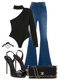 Retro Vibes by spivey-adrian on Polyvore featuring polyvore fashion style Brandon Maxwell Paige Denim Chanel clothing