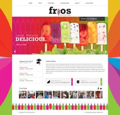 Driskell Creative - Frios Gourmet Pops Web Design - Branding, Web Design, Web Development